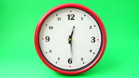 Clock fast forward in time, chroma background
