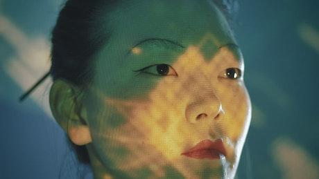 Close portrait of a cyborg