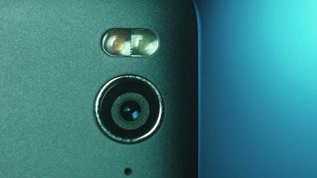 Close up of camera in a smartphone