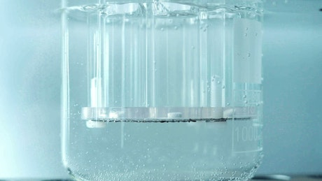 Close up of chemical experiments