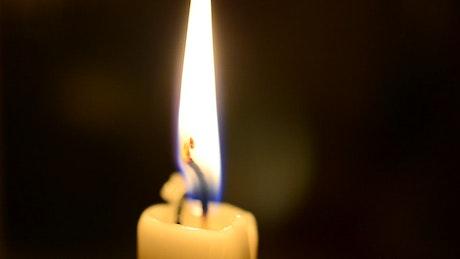 Closeup of a Church candle