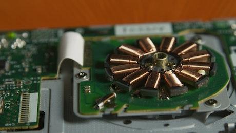 Closeup of a circuit