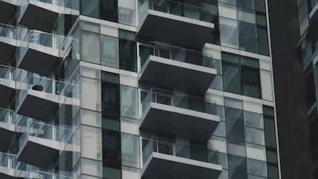 Closeup of a minimalist building