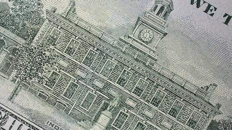 Closeup of a US banknote