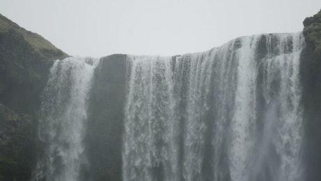 Closeup of a waterfall