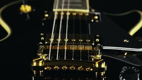 Closeup of an electric guitar