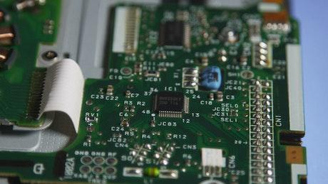 Closeup of circuits