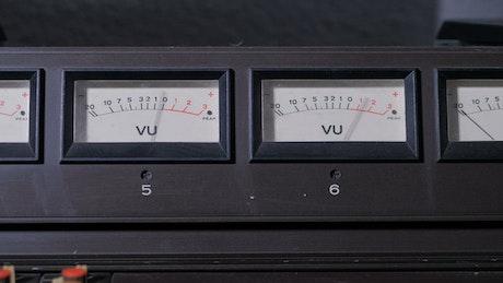 Closeup of signal meters