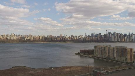 Cloud shadows across the city
