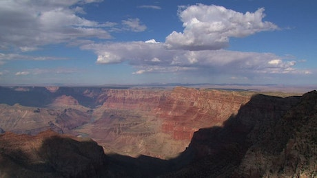 Clouds above the Grand Canyon at noon