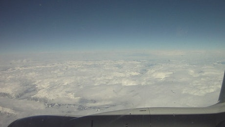 Clouds from an aircraft window