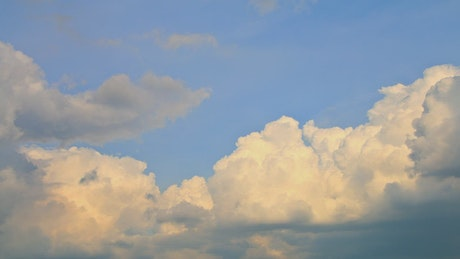 Clouds in blue sky, time-lapse
