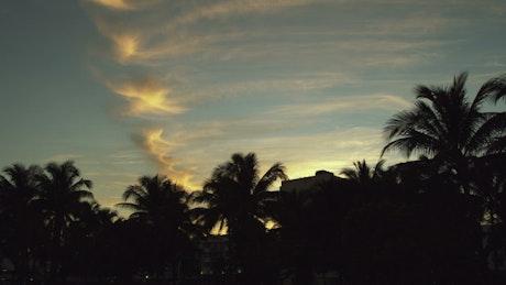 Clouds over a beach in Miami