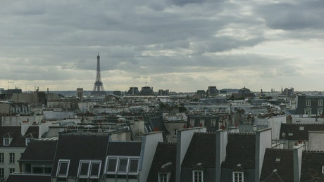 Clouds over the Paris skyline