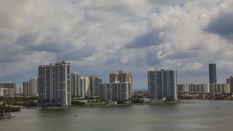 Clouds rising over Miami