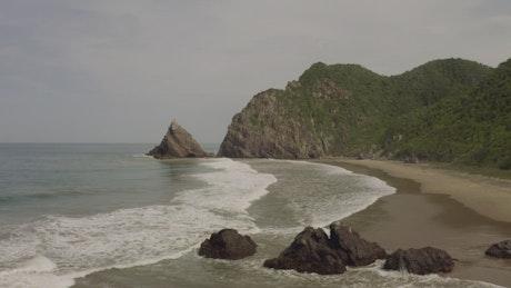 Coast landscape, aerial shot
