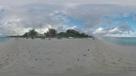 Coastal resort shown in VR