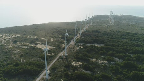 Coastal wind turbines