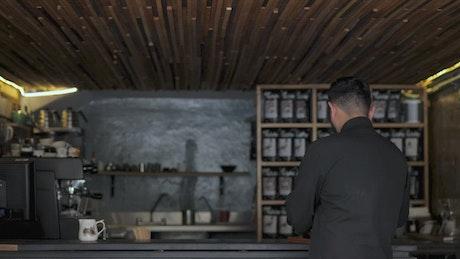Coffee bar waiter