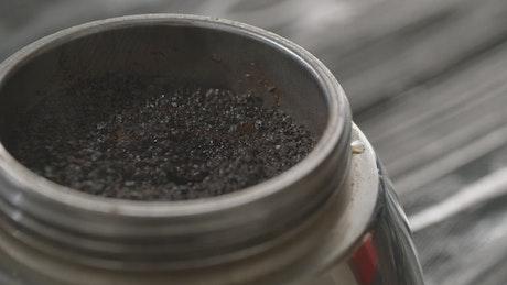Coffee brewing in a Moka Pot