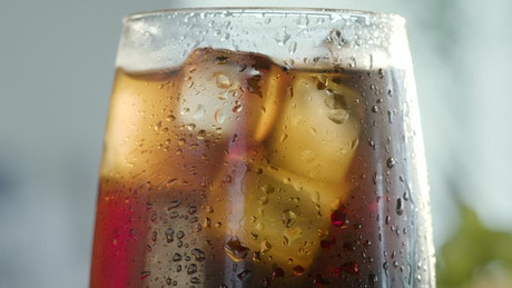 Coke in a glass