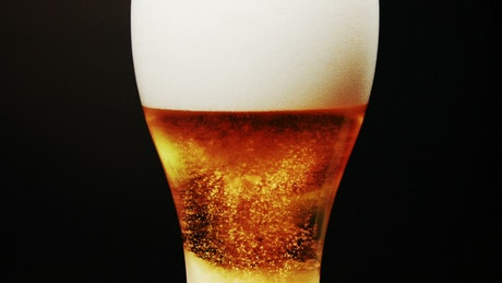 Cold beer in a tall glass