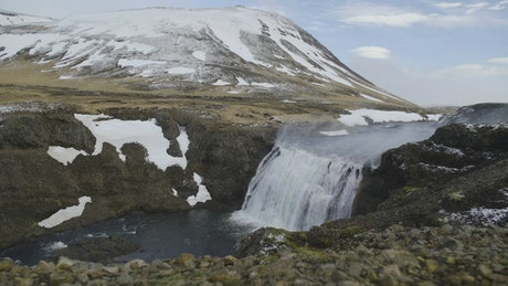 Cold waterfall