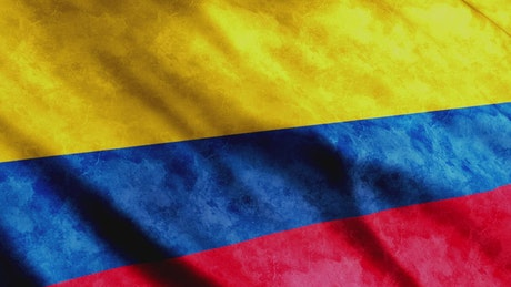 Colombia flag, render