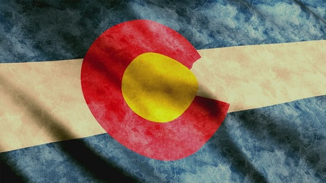 Colorado State flag from USA
