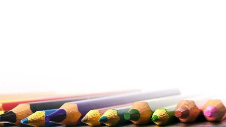 Colored pencils in detail