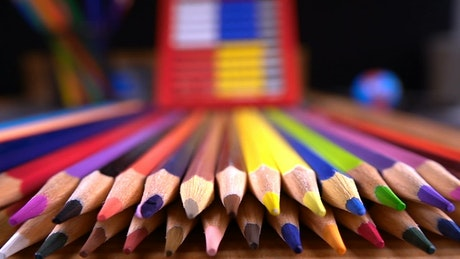Colored pencils, shallow focus