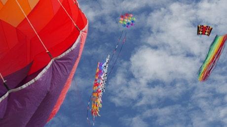 Colorful kites in the sky