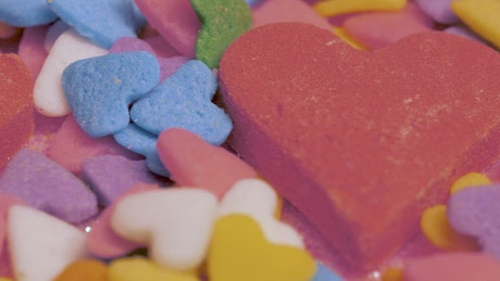 Colorful Valentine's Day candies