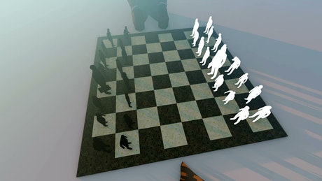Concept of business strategies in a chess game