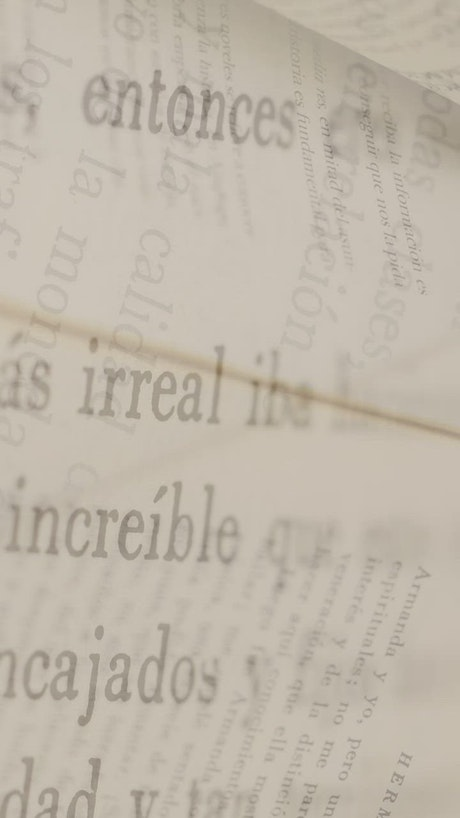 Conceptual video of book pages