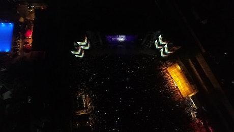Concert gathering at night