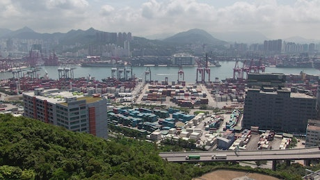 Container terminal and port in Hong Kong