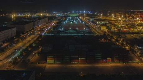 Container terminal time lapse in Tokyo