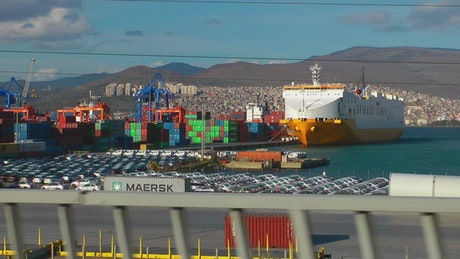 Containers in a trading port