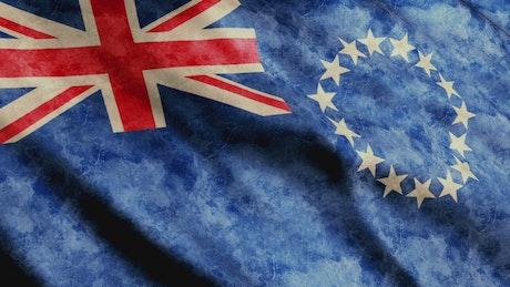 Cook Islands flag, close up