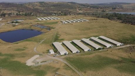 Countryside farm with nursery gardens