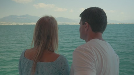 Couple out on a boat trip