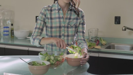 Couple preparing for a healthy dinner