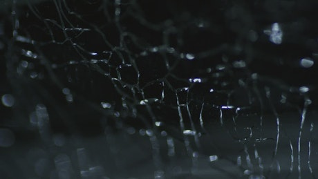 Cracked glass-like texture in motion