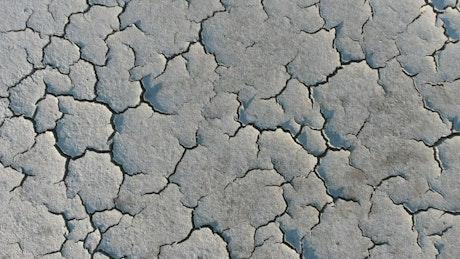 Cracked soil landscape