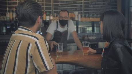Craft beer bar bartender