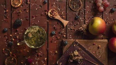 Creating herbal tea