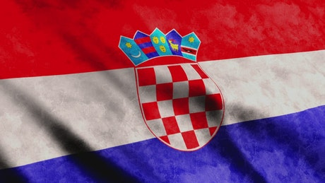 Croatian flag, European country