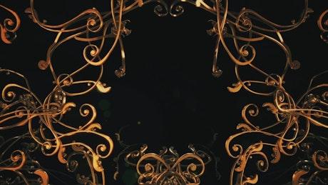 Crossing elegant and tangled 3D gold frames