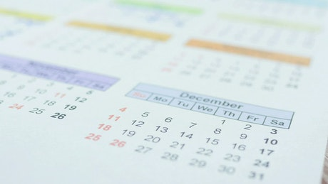 Crossing out days with down on a calendar